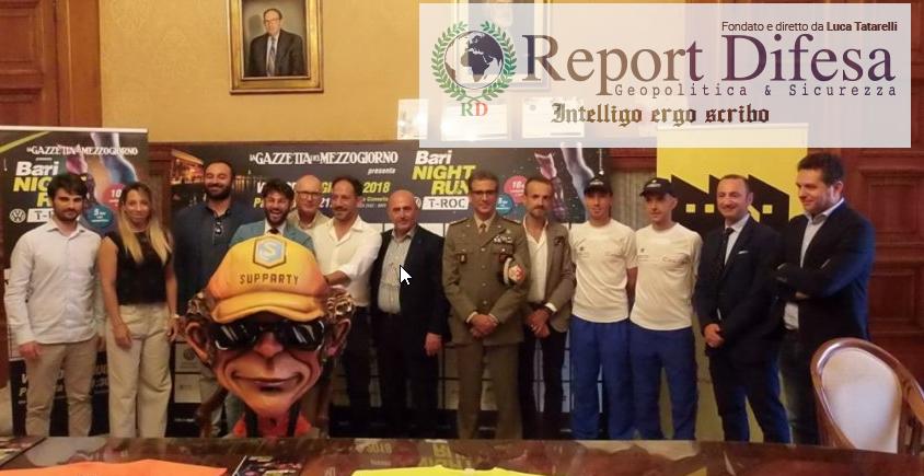 """ASD Fiamme Cremisi e una squadra del Comando Militare Esercito """"Puglia"""" assieme alla """"Bari Night Run"""""""