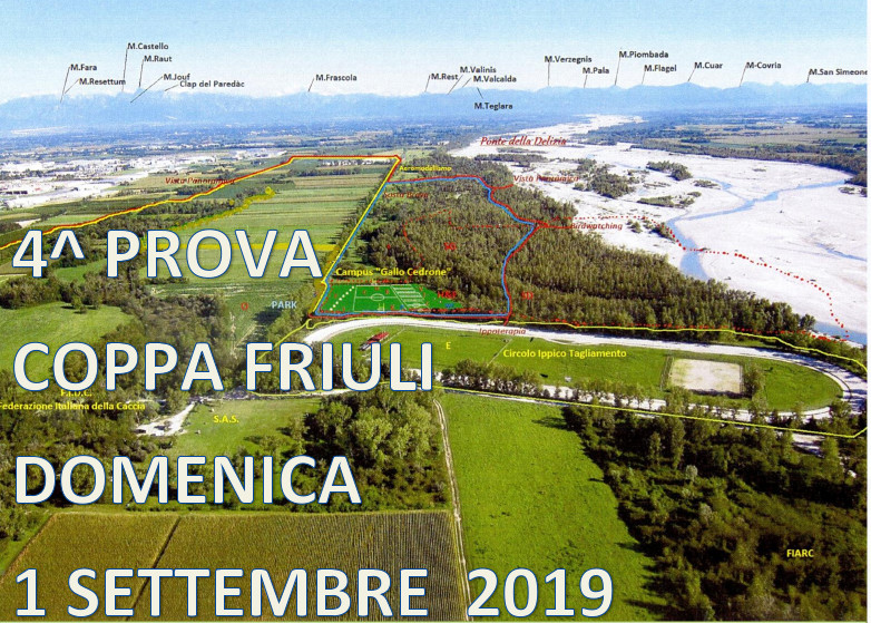 4° Prova – Coppa Friuli Domenica 1 Settembre 2019