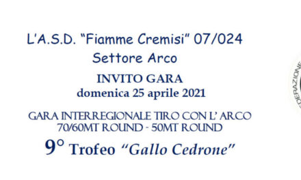"""Invito al 9° Trofeo """"Gallo Cedrone"""""""