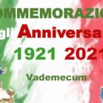 Commemorazione gli Anniversari 1921-2021 – Vademecum