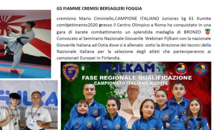 Complimenti all'atleta Mario Ciminiello!