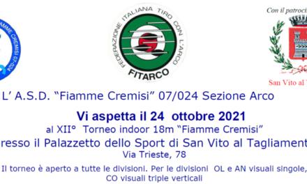"XII° Torneo Indoor 18M ""Fiamme Cremisi"""